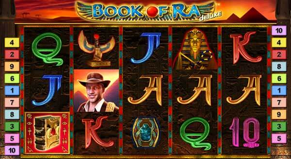 Book of Ra Deluxe สัญลักษณ์ภายในเกม